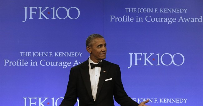 Obama starts defining his new role in the age of Trump