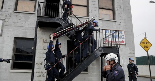 Don't look down! NYPD unit does its work at dizzying heights