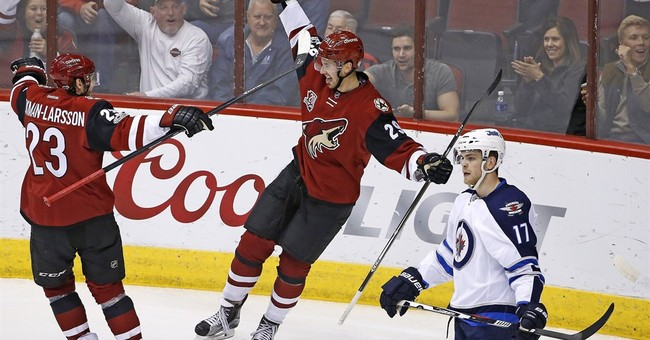 Perlini scores twice, Coyotes top Jets 4-3