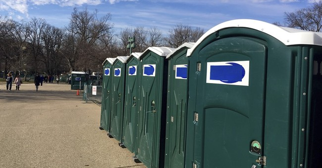 Don's what? Portable toilet names covered for inauguration