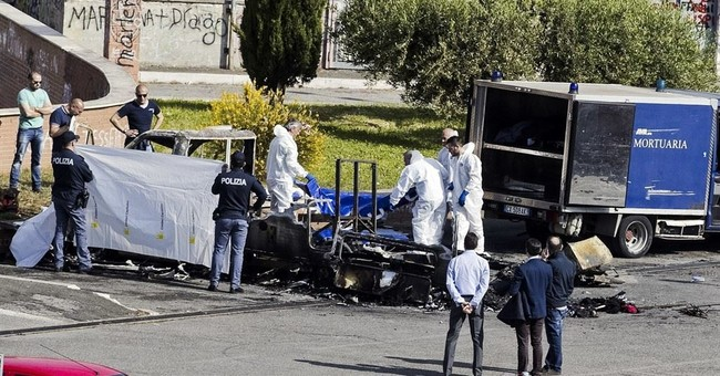 Arson eyed in Rome camper fire that killed 3 Gypsy sisters