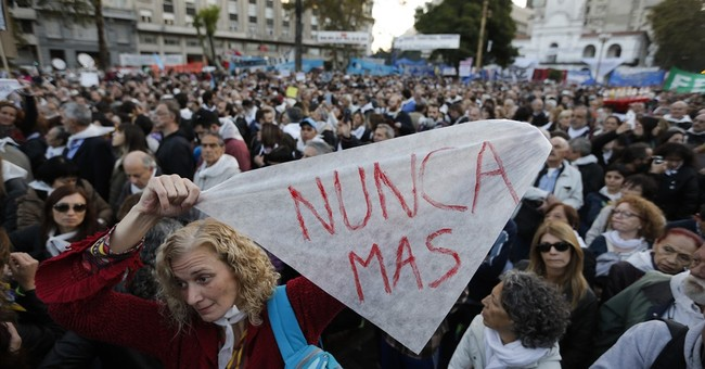 Argentines unite against law helping human rights abusers