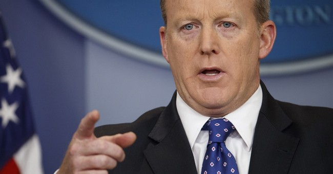 Sean Spicer won't deny that Trump is secretly recording White House conversations