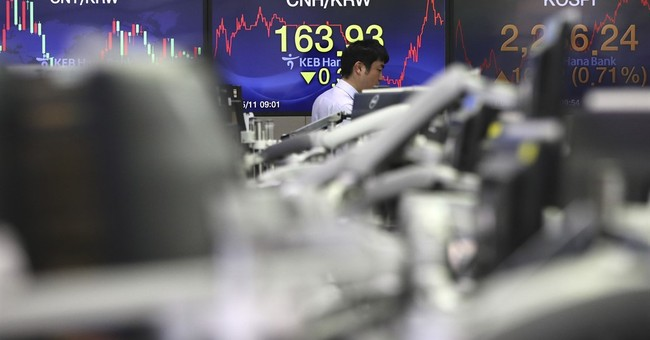 Global stocks turn lower while oil keeps recovering