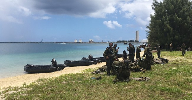 The Latest: Amphibious military exercises being held on Guam