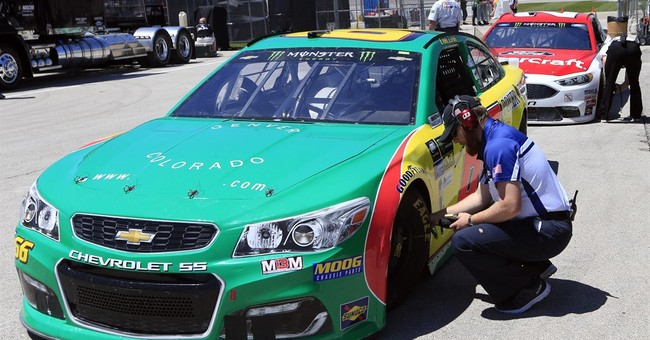 NASCAR steps in when driver shows at Kansas with pot sponsor