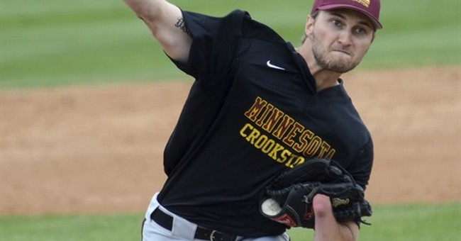 For college pitcher Parker Hanson, one hand enough to excel