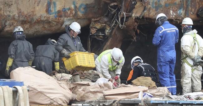 Suspected human bones retrieved from sunken S. Korean ferry