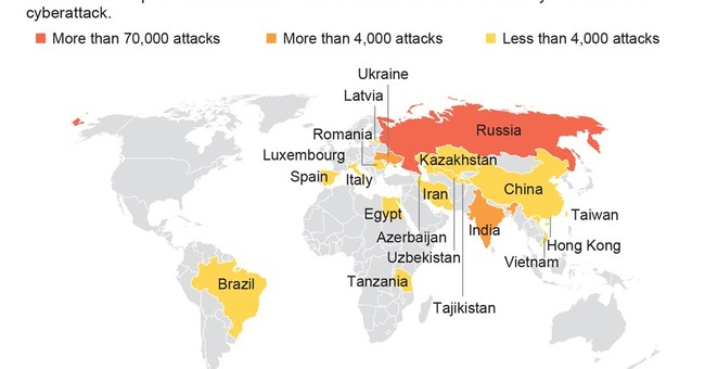 The Latest: 29,000 Chinese institutions hit by cyberattack