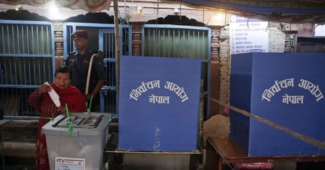Nepalese vote in 1st local elections in 20 years