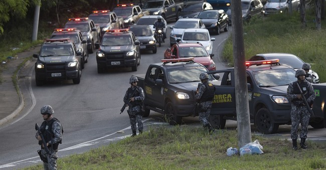 Brazil security forces patrol in Rio amid surge of violence