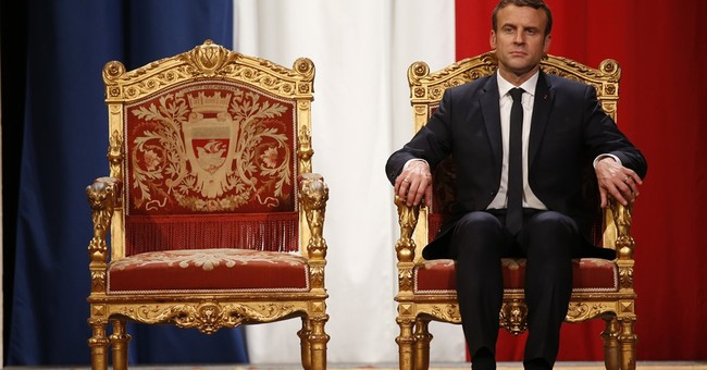 France's Macron holds 1st Cabinet meeting; half are women