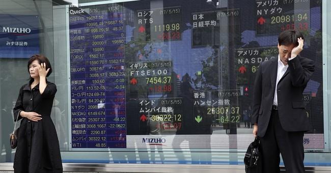Global stocks higher after Wall Street spurt