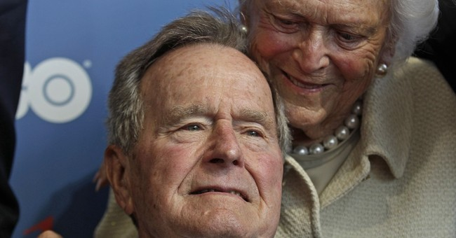 Former President George H.W. Bush in Maine for the summer