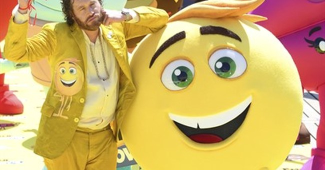 T.J. Miller parasails into Cannes for 'The Emoji Movie'