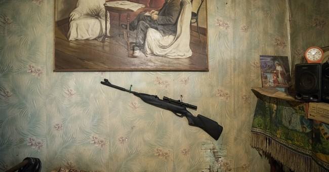 AP PHOTOS: Russian villager turns his house into work of art