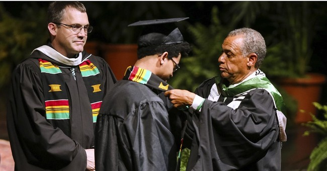 Black Harvard students holding a graduation of their own