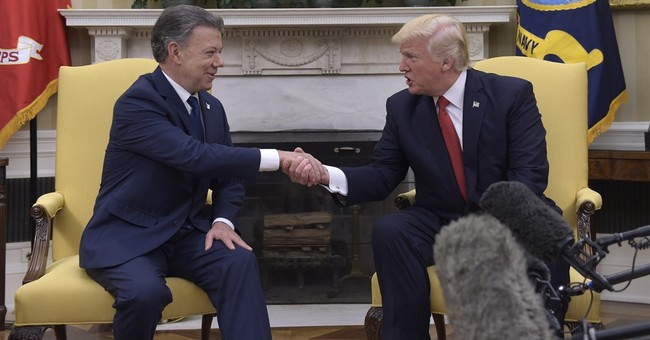 Trump welcomes Colombia's president to the White House