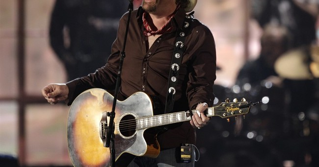 Trump briefly sees country star Toby Keith's Saudi show