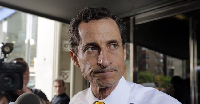 The Latest: Anthony Weiner cries while apologizing in court