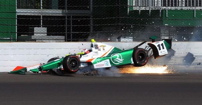 After rain delay, Pigot, Veach crash in Indy 500 practice