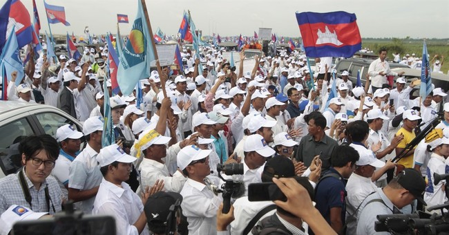 Cambodians rally ahead of polls as US warns of intimidation