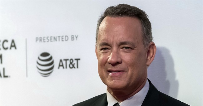 Actor Tom Hanks is on the beat, flagging car for police
