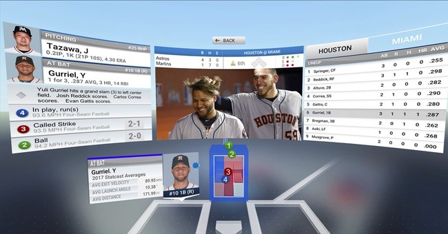 Baseball coming June 1 to virtual-reality headsets