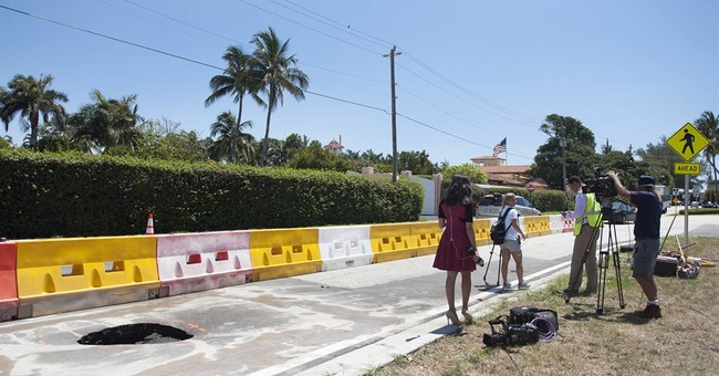 Small sinkhole opens outside Trump's Florida getaway club
