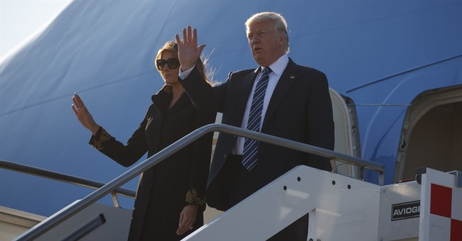 The Latest: Another awkward moment between Trumps in Rome