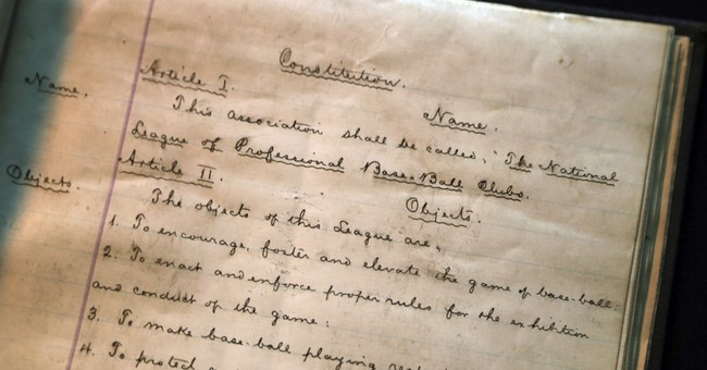 Big league baseball's founding documents to be auctioned