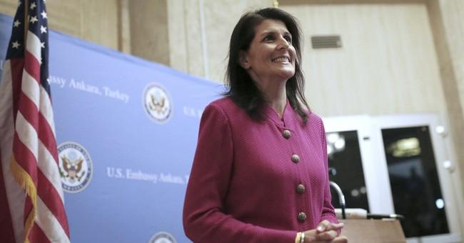 Trump envoy Haley tells refugees she cares, but defends cuts