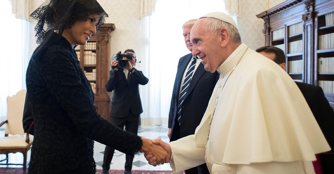 Pope to first lady: what are you feeding Trump?