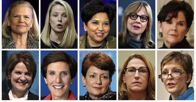 Women CEOs earn big pay, but few of them have the top job