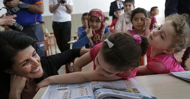 US ambassador to UN hails Turkish school for Syria refugees