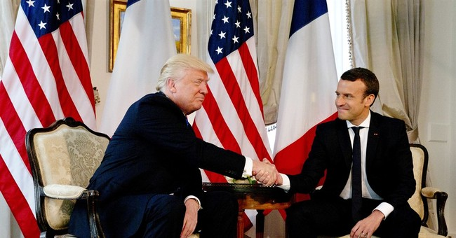 Trump handshake showdown with France's Macron