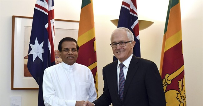 Sri Lankan president discusses asylum seekers in Australia