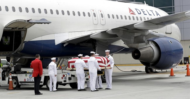 Pilot's remains back on US soil from Vietnam after  52 years