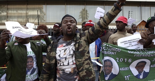 South African opposition leader barred entry to Zambia