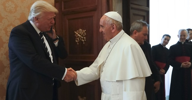 Donald Trump holds talks with the Pope