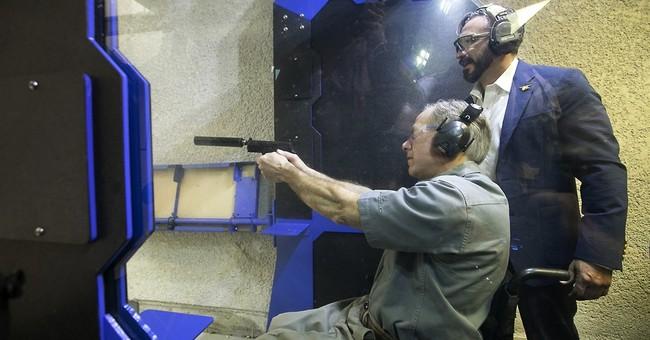 Texas governor cracks joke about reporters at gun range