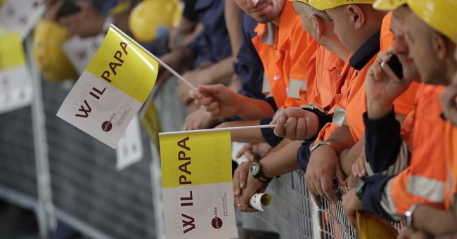 Pope visits factory workers, highlights the dignity of work