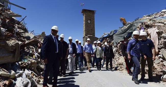 Canada's premier in Italy visits quake-devastated Amatrice