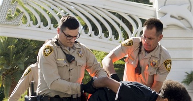 Vegas protest of man's death in custody leads to 10 arrests