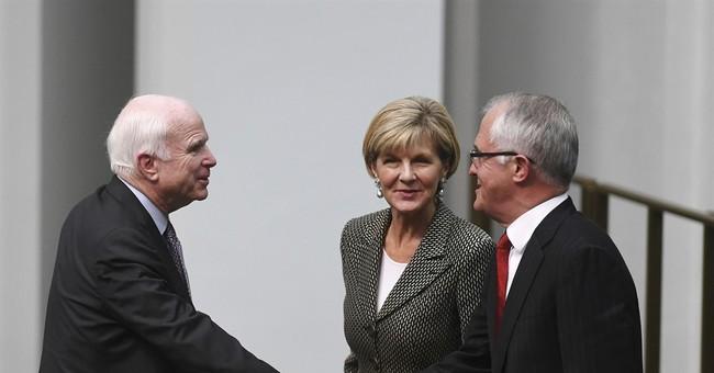 Sen. John McCain visits Australia for security talks