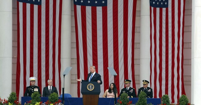 Trump Delivers Memorial Day Address At Arlington National Cemetery