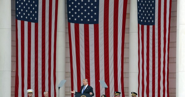 The Latest: Trump honors fallen in Memorial Day address