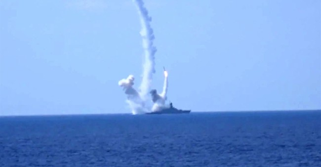 Russia fires cruise missiles, targets IS positions in Syria