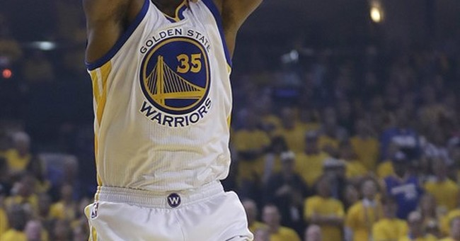 The Latest: Warriors roll to 113-91 win vs. Cavs in Game 1