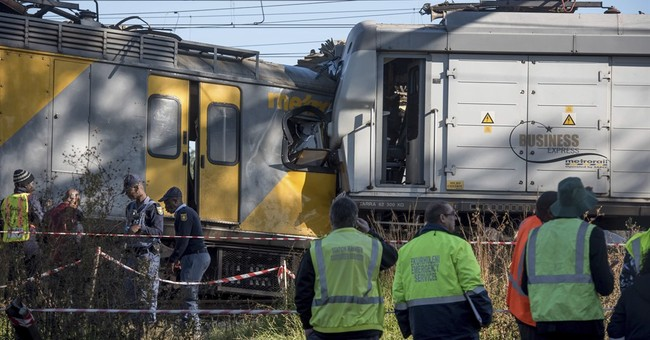 1 killed, 50 injured in South African train collision